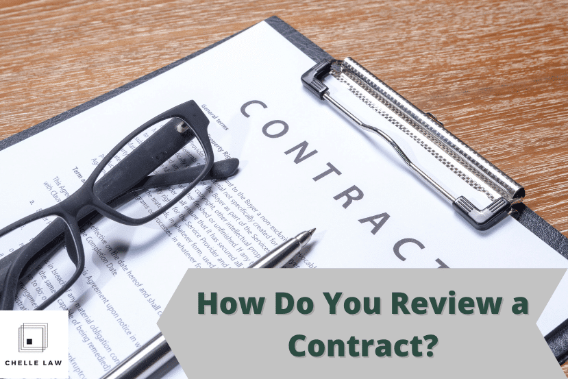 How Do You Review a Contract