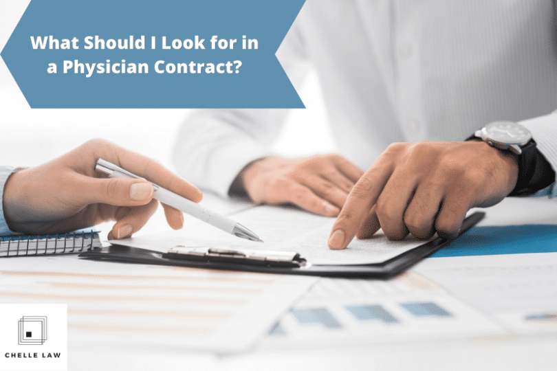 What Should I Look for in a Physician Contract