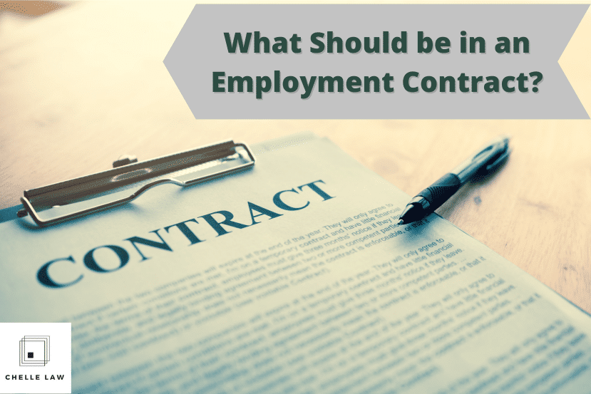 What Should be in an Employment Contract