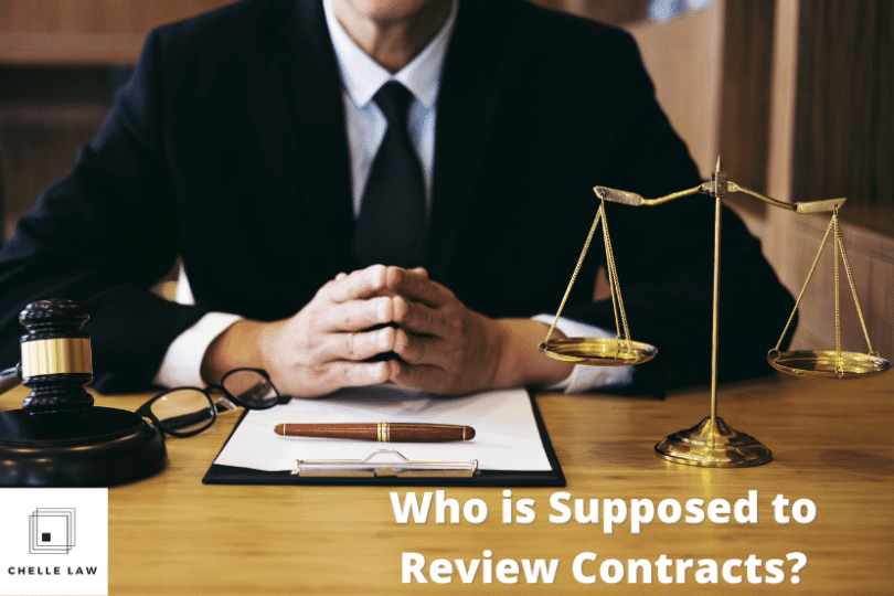 Who is Supposed to Review Contracts